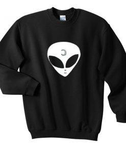 alien pattern sweatshirt