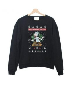 rick and morty xmas sweatshirt