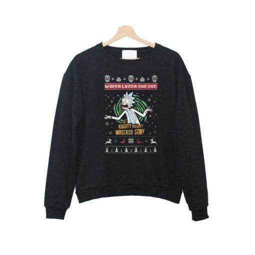 rick and morty xmas sweatshirt