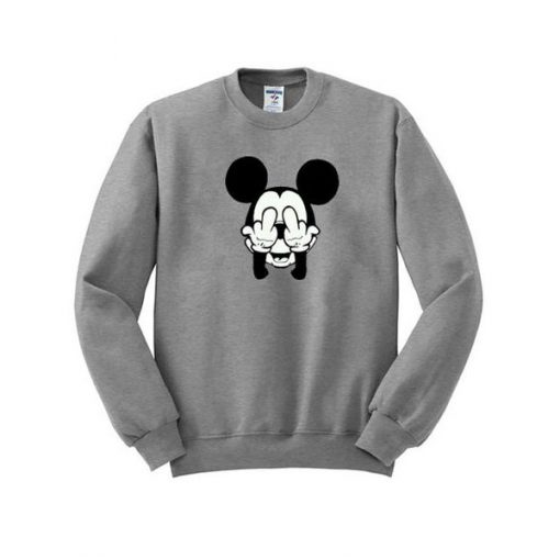 mickey mouse fuck hand sweatshirt