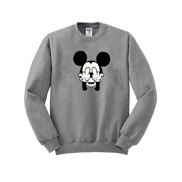 mickey mouse fuck hand sweatshirt
