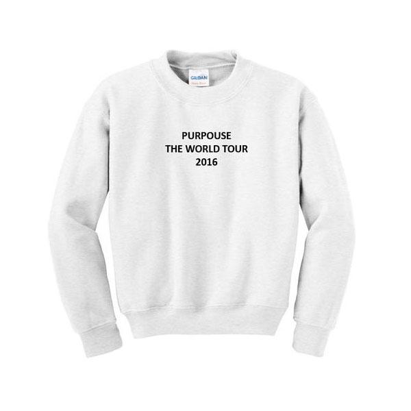 purpouse the world tour 2016 sweatshirt