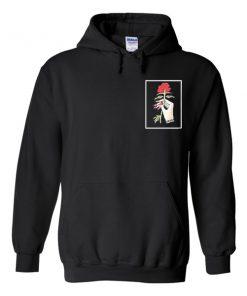 rose hand hoodie