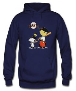 snoopy baseball navy blue color hoodies