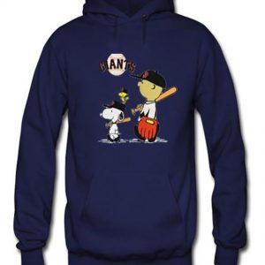 snoopy baseball navy blue color hoodies