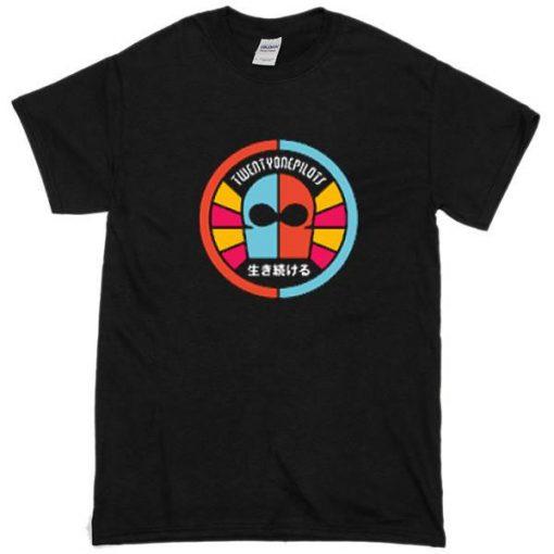 twenty one pilots mask and logo t-shirt
