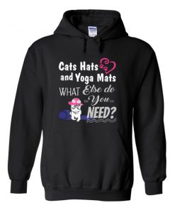 Cats Hats and Yoga Mats Hoodie