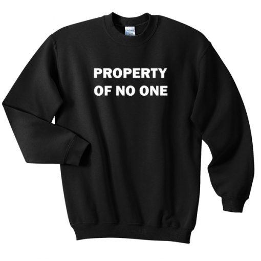 property of no one sweatshirt