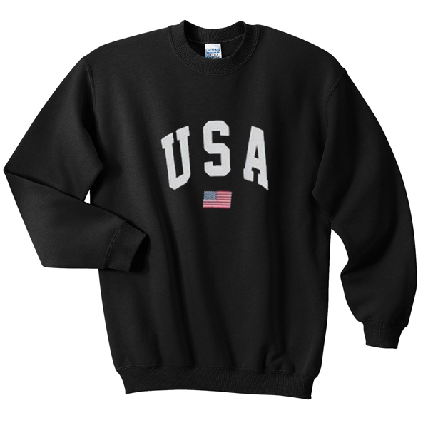 USA Flag Sweatshirt