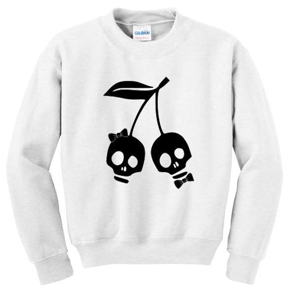 cherry skull sweatshirt