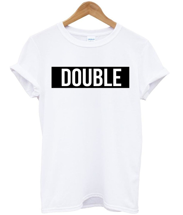 double font T Shirt