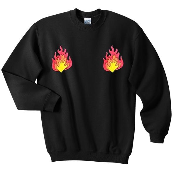 flames fire sweatshirt