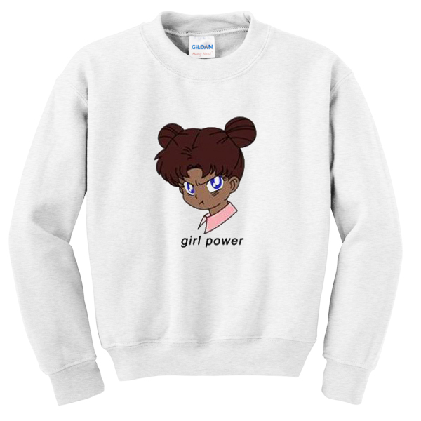girl power anime sweatshirt