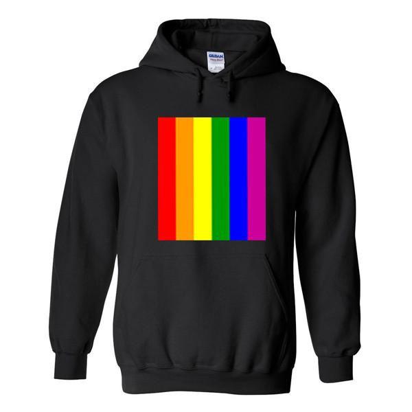 rainbow line colour hoodie