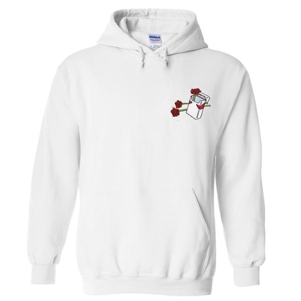 rose ciggarete hoodie