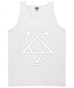 Heartagram Heart Pentagram Love Hate Graphic Band Tank top