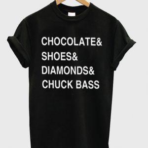 chocolate shoes diamond chuck bass tshirt