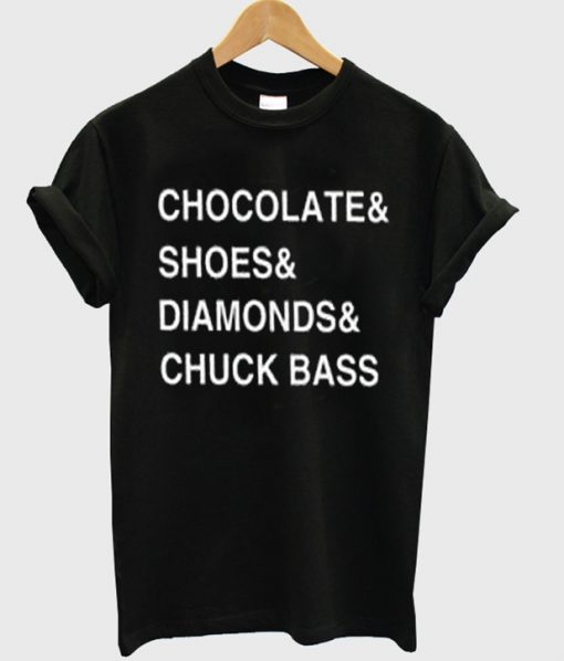 chocolate shoes diamond chuck bass tshirt