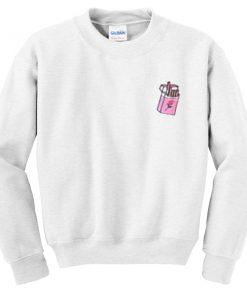 flower cigarette sweatshirt