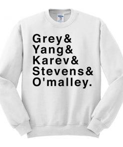 grey yang karev stevens omalley sweatshirt