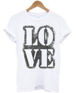 Love Stencil Grunge Vintage T-shirt