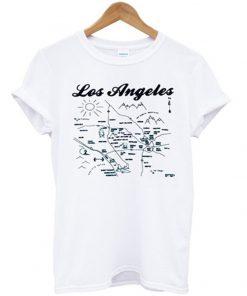 los angeles vintage maps t-shirt