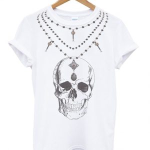 skull roseary tshirt