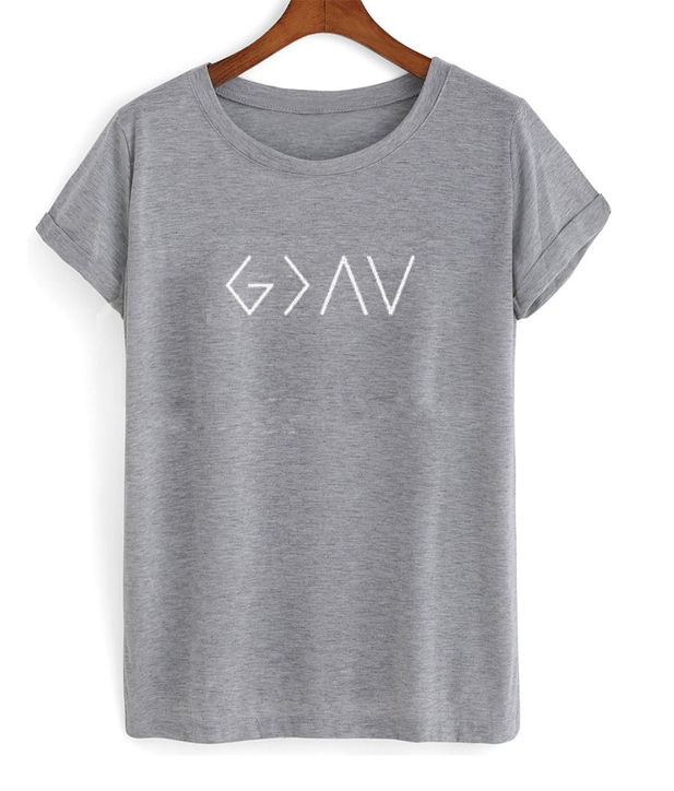 symbol god is greater than the highs and lows shirt