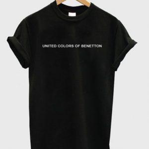 united colours of benetton font tshirt