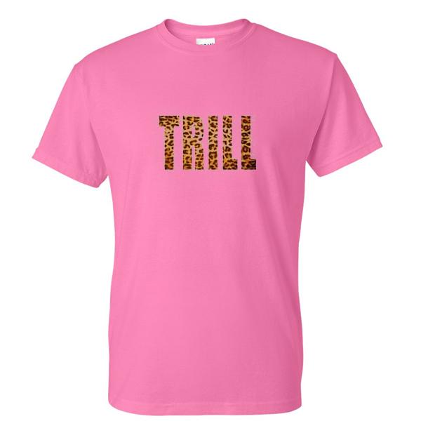 Trill Leopard Font Tshirt