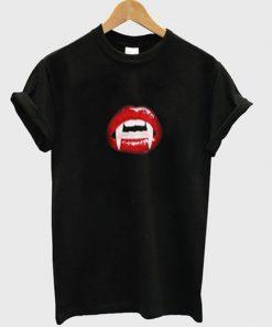 dracula red lips t-shirt