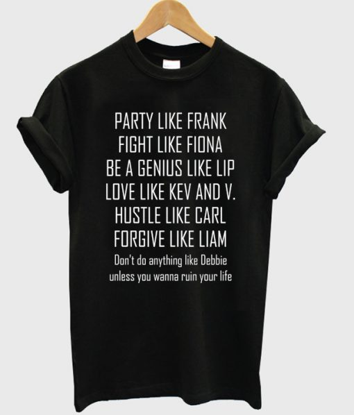 party like frank t-shirt