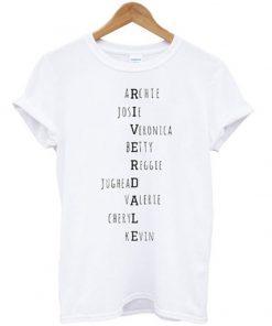 riverdale names t-shirt