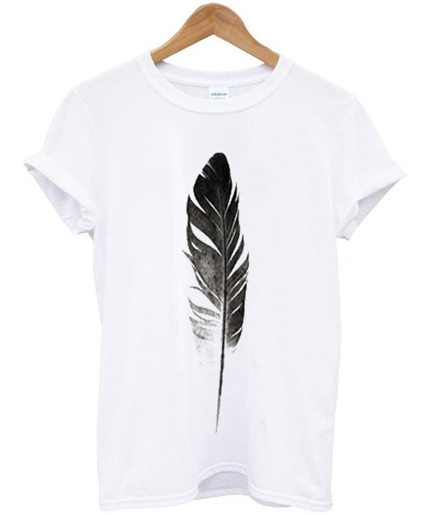trinitas feather t-shirt