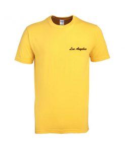 los angeles yellow color tshirt