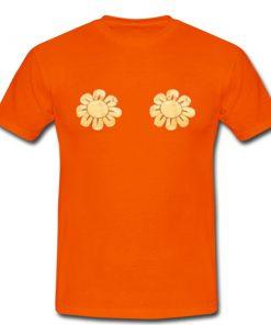 sun flower orange tshirt