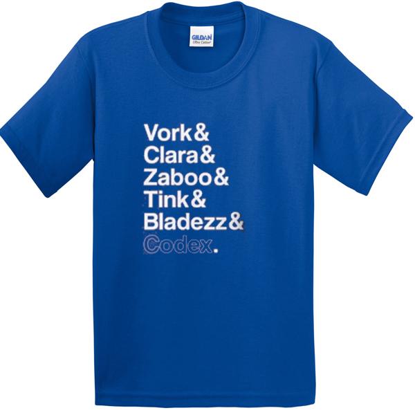 vork clara zaboo tink bladezz codex tshirt