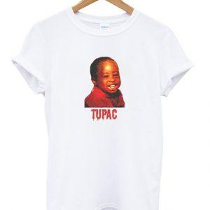 young tupac shakur t-shirt