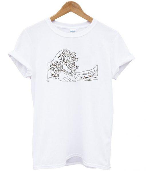 ocean waves coaster t-shirt