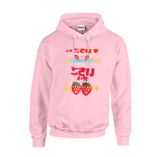 strawberry japanese hoodie