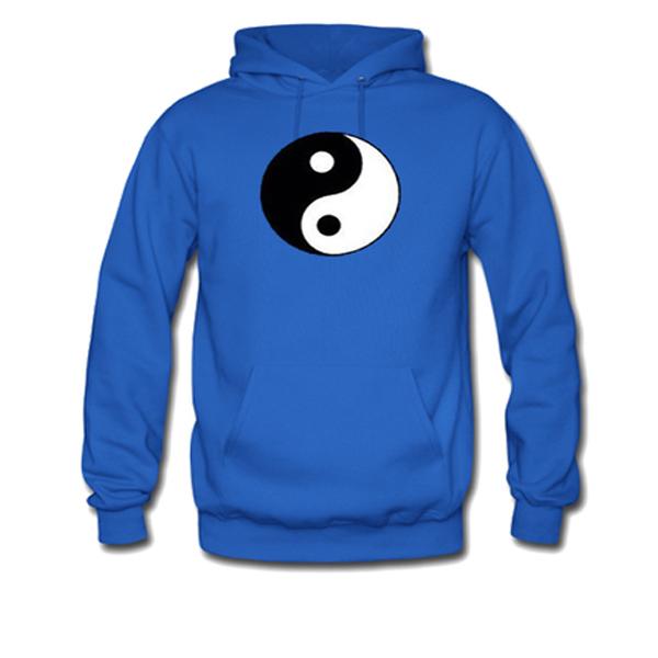 yin yang logo blue hoodie