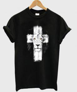 lion jesus t-shirt