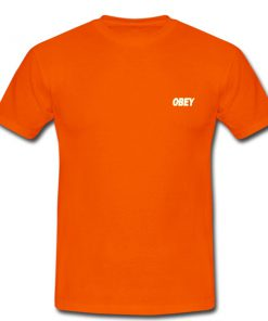 obey orange tshirt