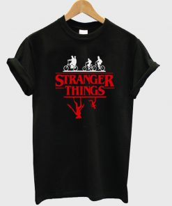 stranger things bike rides t-shirt