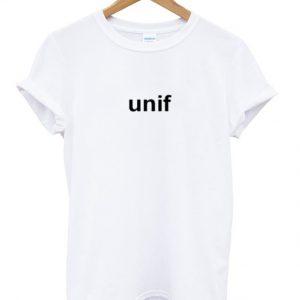 unif font t-shirt