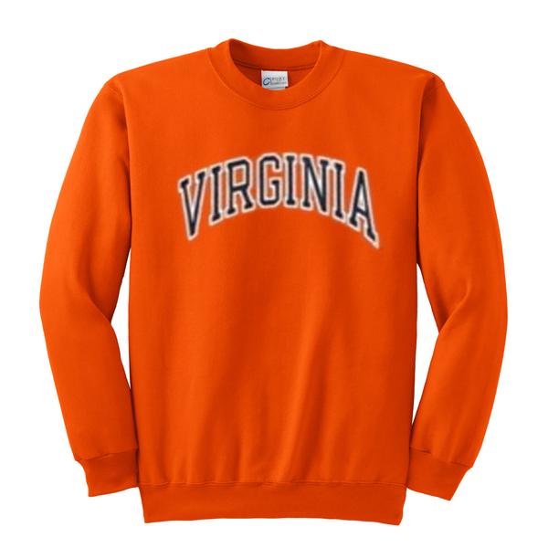 virginia orange sweatshirt