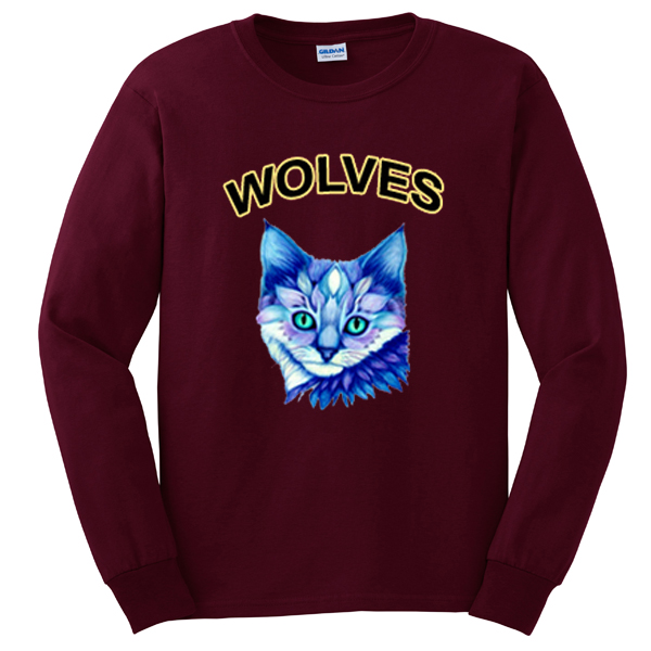 wolves cat sweatshirt