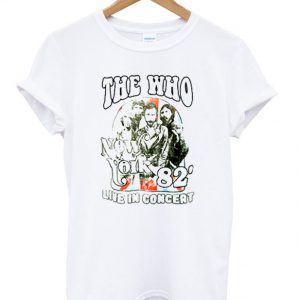 the who new york 82 live in concert t-shirt