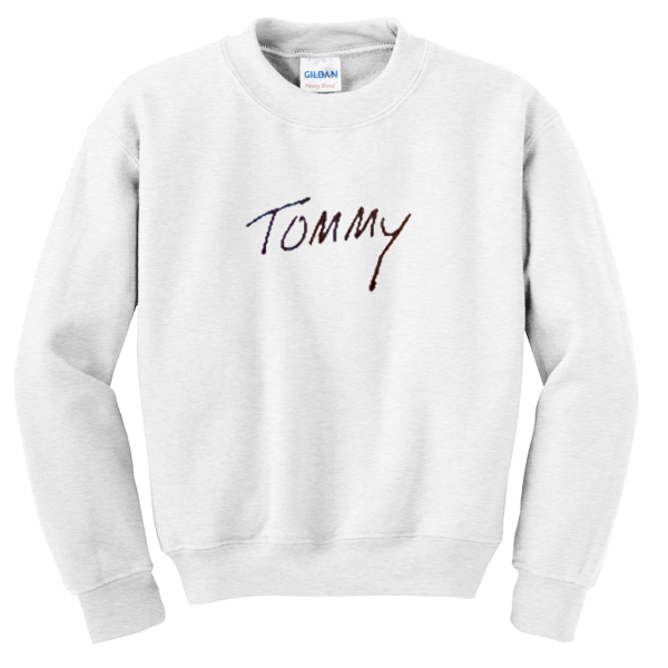 tommy font sweatshirt