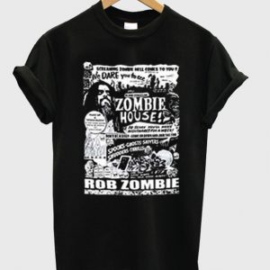 zombie house t-shirt